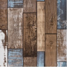 Akywall Reclaimed Wood Wallpaper Roll, Vintage Faux Wood Plank Look Wallpaper, for Home Decal, Restaurant, Cafe etc. Size 20.8inch x 32.8ft, 57 sq.feet