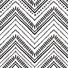 "Akea Boho Peel and Stick Wallpaper Modern Stripe Contact Paper Black and White Vinyl Self Adhesive Geometric Temporary Decorative 118 x 17.7"""