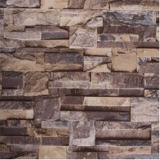 Akywall Modern Stone Wallpaper, Waterproof Vinyl Wallpaper Roll, Home Decor for Bedroom, Living room etc. Size: 20.8inch x 32.8ft, 57 sq.feet, Brown